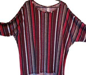 Multicolor stripe plus size Top. Size 3x